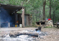 Bush campfire - cook the trout you caught for your dinner!