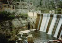 Mudgee-Rylstone - Dunns Swamp dam wall built in 1930s